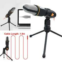 Condenser Microphone Tripod Stand for Game Chat PC Studio Recording Computer