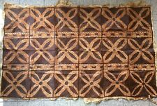 Vtg Tapa Bark Cloth Polynesian Pacific Islands Tonga 74 x 46 Tiki Hawaiian Aloha