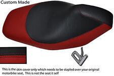 DARK RED & BLACK VINYL CUSTOM FITS GILERA RUNNER VXR 180 200 07-12 SEAT COVER