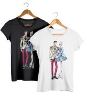 Cinderella & Prince Charming Disney Couples Fashion T-Shirt Unisex Fit Tee