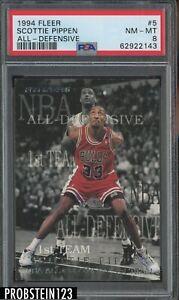 1994 Fleer All-Defensive #5 Scottie Pippen Chicago Bulls HOF PSA 8 NM-MT