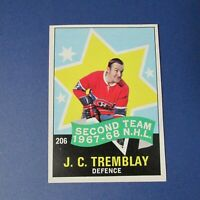JEAN-CLAUDE J.C. TREMBLAY 1968-69 O-Pee-Chee  # 206  AS OPC Montreal Canadiens