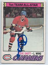HOF Steve Shutt signed 1977-78 O-Pee-Chee Montreal Canadiens autograph #120