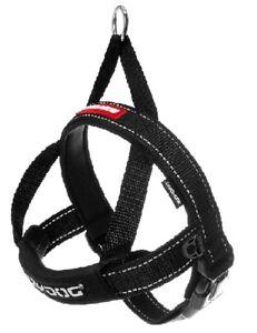 Quick Fit Dog Harness EZYDOG One Click Adjustable Reflective Ezy Black ALL SIZES