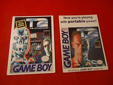 T2 Terminator 2 Judgment Day & Arcade Game Boy Vidpro Promotional Display Card