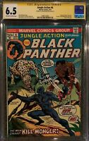 Jungle Action #6 CGC SS 6.5 Signed Don McGregor - First Killmonger Appearance