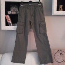 Pantaloni verde militare Original Marines modello cargo taglia 12 anni pantalone