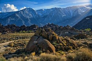 Sierra Nevada and Alabama Hills Mt. Whitney Lone Pine California Poster Photo