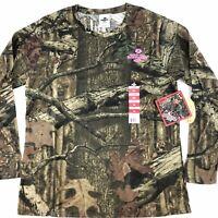 Mossy Oak Hunting Camo Top Sz Medium Women's Break Up Infinity Long Sleeve Shirt