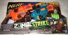 Nerf Zombie Strike Doublestrike 2 Pack Toy Guns NIB