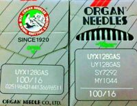 ORGAN UYX128GAS SY7292 MY1040 SIZE100/16 INDUSTRIAL SEWING MACHINE NEEDLE