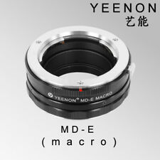 Yeenon MINOLTA MD lens to SONY E-MOUNT  body MD-NEX Helicoid Adapter(macro)Black