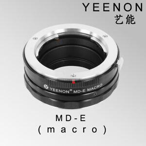 Yeenon MINOLTA MD lens to SONY E-MOUNT  body MD-NEX Helicoid Adapter(macro)Black