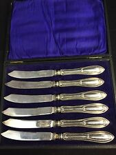 6 Art Deco Silver Plated Tea/Butter Knives By Walker & Hall