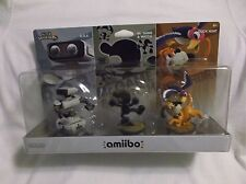 Amiibo Retro 3 Pack Gamestop Exclusive R.O.B Mr Game & Watch Duck Hunt USA Versn
