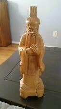 Vintage carved Confucius statue