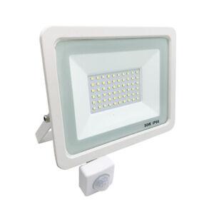 Faro led con sensore di movimento 10w 20w 30w 50w faretto con Pir slim Bianco.