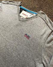 O'NEILL MENS V NECK GREY COLOUR SLIM FIT SWEATER JUMPER SIZE XL EXCELLENT COND!