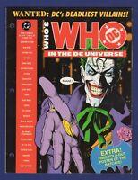 WANTED: DC DEADLIEST VILLAINS JOKER BOLLAND WHO'S WHO 3 RING SET '91 DC BATMAN