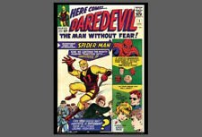POSTER: Marvel Comics DAREDEVIL #1 (Apr 1964) w/Spider-Man Cover Poster Print
