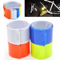 Bike Bicycle Reflective Safe Band Strap Night Pants Legging Snap Tape Armband