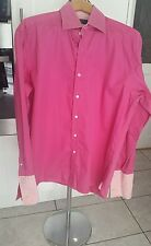 Men's Ted Baker Archive Pink Patterned Shirt-Size 16 Collar French/Double Cuff