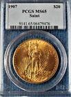 """90% Gold 1907 Saint-Gaudens Double Eagle PCGS MS65 """"NO MOTTO"""""""