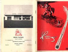 Fishing Tackle Hooks Flies Lures Etc 1962 Catalog Reed Tackle Caldwell Nj