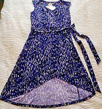 Dana Buchman Kohls Womens Size 8 Sleeveless V-Neck Belted Wrap Dress Purple