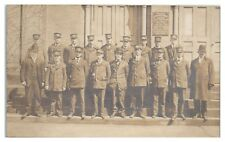 RPPC Westfield, MA, Fire Department Firefighters Real Photo Postcard