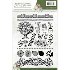 Flowers Clear Unmounted Rubber Stamp Set Precious Marieke Pmcs10018 New