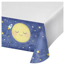 BABY SHOWER Moon and Back PLASTIC TABLE COVER ~ Birthday Party Supplies Cloth
