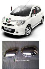 Calotte cromate copri specchi Acciaio   Nissan Micra 2011>