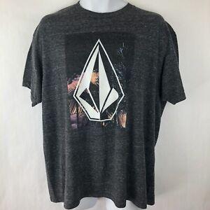 Volcom Gray Tee T Shirt / Men's Sz XL / Polyester Blend