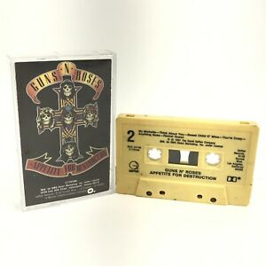 Guns And Roses Appetite For Destruction  Cassette Tape  1987 80's Rock N Roll
