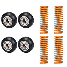 4pcs x Creality POM Bearing Pulley + 4pcs Hot Bed Springs for Ender 3 3D Printer