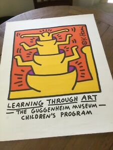 Keith Haring Guggenheim 25 of 350-  embossed seal limited ed lithograph poster