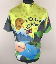 Birk TOUR NORWAY Cycling Jersey Men's Size 2XL 3/4 Zip Shirt Etto Fuji Hayes