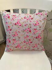 """Rose & Hubble Grey Vintage Floral Cushion Cover 16"""" Bouquet Pink Shabby Chic"""