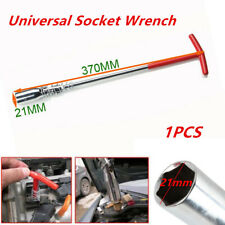 21mm Spark Plug Removal Tool T-Bar Flexible Spanner Socket Wrench Universal Auto
