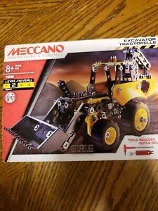 NEW Meccano Engineering & Robotics  Excavator tractopelle  FACTORY SEALED