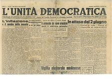 L'UNITA' DEMOCRATICA 22 MAGGIO 1946