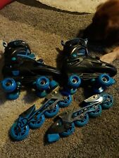 Roller Derby Rollerskates with blades; boys size 3-6: great shape.