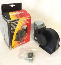 Stebel Nautilus Compact TwinTone Air Horn 139dB Black Car Lorry Truck Motorcycle