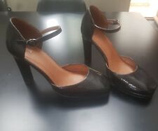 Ladies Next Leather High Heeled Court Shoe Size UK 7