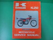 KAWASAKI moto kl250 kl 250 manuale officina riparazione owner's service manual