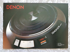 Original 1980's Denon Product Catalog Brochure - Turntables Cartridges Tape Deck