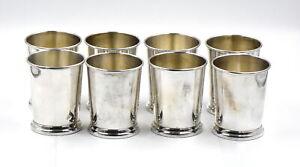 VINTAGE BOARDMAN FOR SCHWARZSCHILD MINT JULEP CUPS LOT OF 8 STERLING SILVER 925