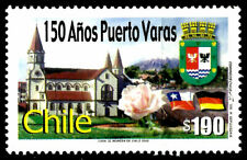 CHILE, CITY OF PUERTO VARAS, 150 YEARS, MNH, YEAR 2002