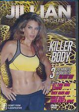 Jillian Michaels Killer Body DVD 3x 30-minute workouts to blast fat